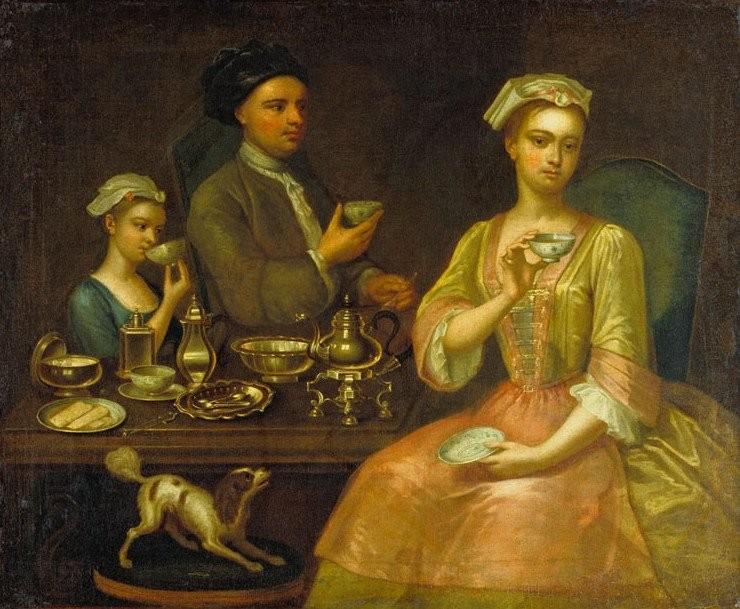 Чай в европейском быту и культуре.